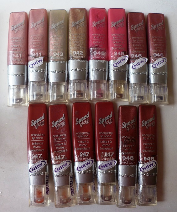 Lots 6 Units Speed Gloss energizing Lip shine untamed Wet n Wild